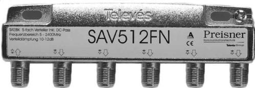 Televes Verteiler 5-fach 12dB 5-2400Mhz SAV 512 FN