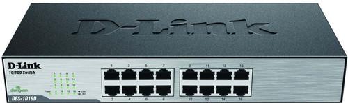 DLink Deutschland 16-Port Switch 10/100Mbit,NWay DES-1016D/E