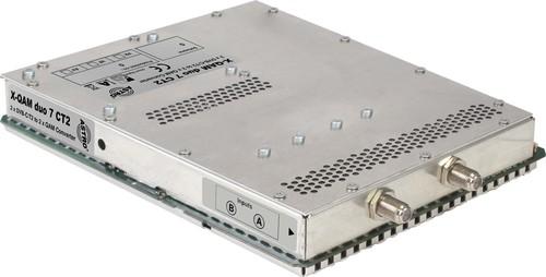 Astro Strobel Signalumsetzer 2-f.DVBC/T2 in 2x1QAM-Ausgang X-QAM duo 7 CT2 CI