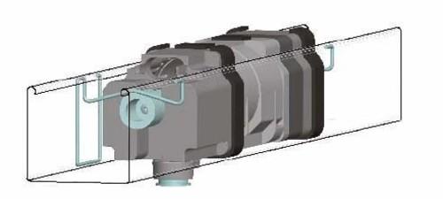 Somfy J4-Halteklammer innenlieg. 57x51mm 9014216