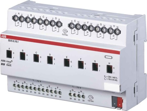 ABB Stotz S&J Schalt/Dimmaktor 4-fach, 16A, REG SD/S4.16.1