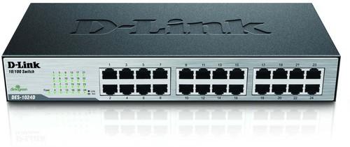 DLink Deutschland 24-Port Ethernet Switch 24x10/100Mbit DES-1024D/E