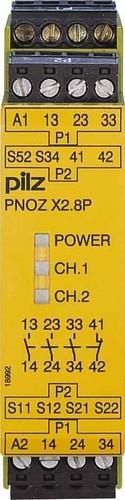 Pilz Not-Aus-Schaltgerät 24VACDC 3n/o 1n/c PNOZ X2.8P #777301