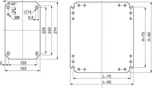Schneider Electric Montageplatte 450x250 NSYMM53