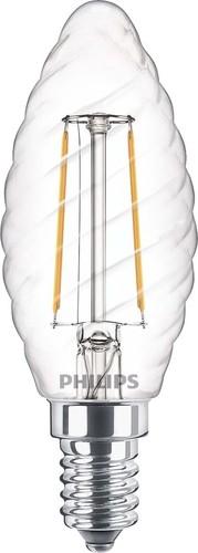 Philips Lighting LED-Kerzenlampe E14 827 ST35 klar CLA LEDcand#57411900