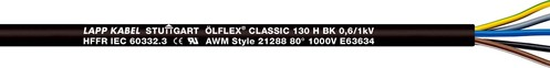 Lapp Kabel&Leitung ÖLFLEX CLASSIC 130 H BK 0,6/1kV 2x1 1123410 T500