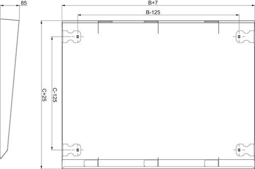 Schneider Electric Regenschutzdach 1200x400 NSYSC1240