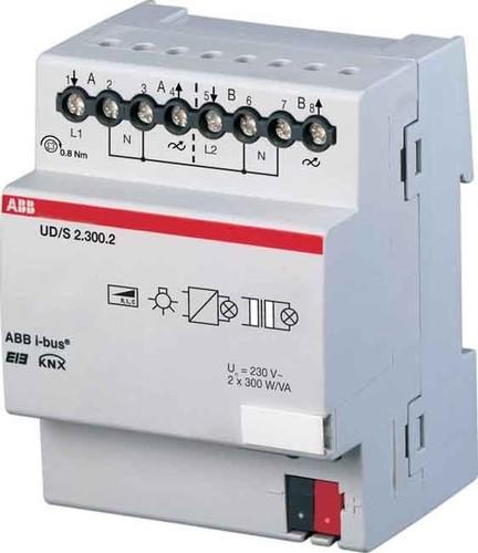 ABB Stotz S&J Univ.-Dimmaktor 2-fach 300 VA, REG UD/S2.300.2
