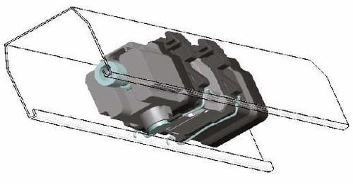 Somfy J4/J5 Clipadapter f. Kopfschiene 78x67 9014686