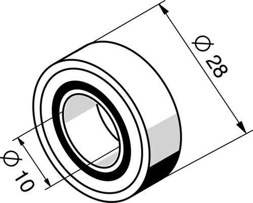 Somfy Minikugellager 10mm 9701287