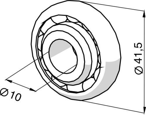 Somfy Kugellager 10mm 9701519
