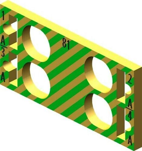 Siemens Indus.Sector Farbkennzeichnungsschilder f. 4 AUX-Klemmen 6ES71936CP812AB0VE10