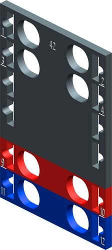 Siemens Indus.Sector Farbkennzeichnungsschilder f. BU-TYP F0 6ES71936CP422MB0VE10