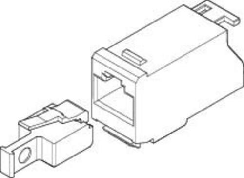 ABN RJ45-Adapter o. Patchkabel Cat.6A Modul 90Grad BP115