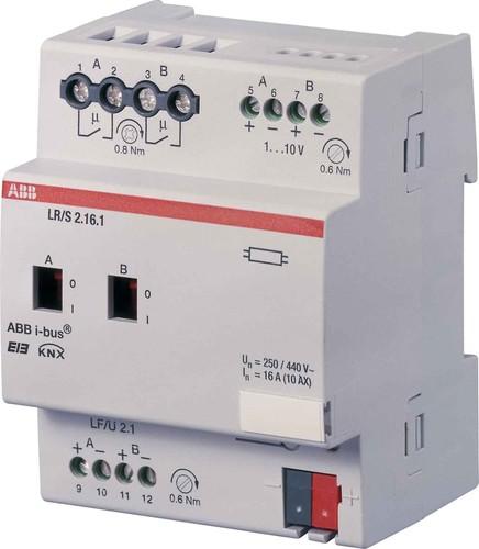 ABB Stotz S&J Lichtregler/Schaltdimmakt. 2-fach, 1-10V, REG LR/S2.16.1