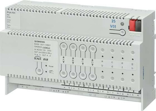 Siemens Indus.Sector Kombi-Jalousieaktor 8fach 230V 6A 5WG1501-1AB01