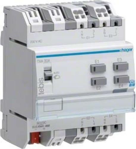 Hager Binäreingang KNX,4fach,230V TXA304