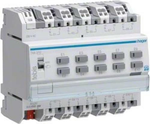 Hager Binäreingang KNX,10fach,230V TXA310