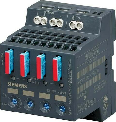 Siemens Indus.Sector Diagnosemodul 24VDC,4x10A,IP20 6EP1961-2BA00