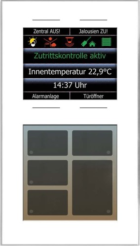 Issendorff Glas-Tastenfeld weiß 10Ta.6LED 2,8Disp LCN - GT10DW