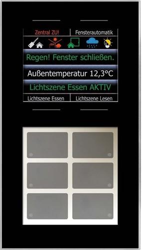 Issendorff Glas-Tastenfeld schwarz 10Ta.6LED 2,8Disp LCN - GT10DB