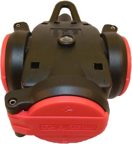 ABL Sursum 2KT-Schuko-3fach-Kupplung rt/sw 2,5 qmm 1173543