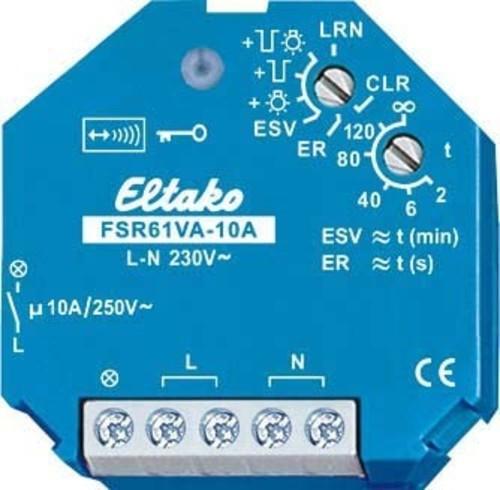 Eltako Funkaktor Stromstoßschalt. 1Schl., 10A/250V AC FSR61VA-10A