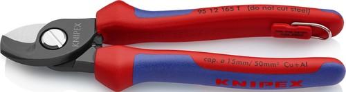 Knipex-Werk Kabelschere 165mm, mit Bef.-Öse 95 12 165 T BK