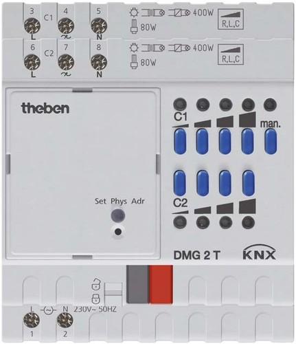 Theben Universaldimmer 2Kanal,Grundmodul DMG 2 T KNX