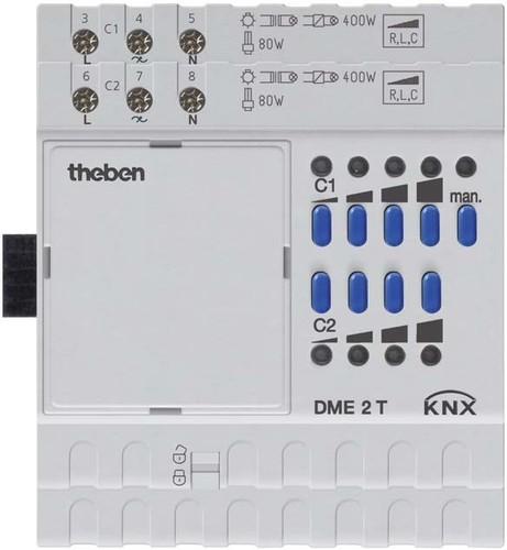 Theben Universaldimmer 2Kanal,Erweit.-modul DME 2 T KNX