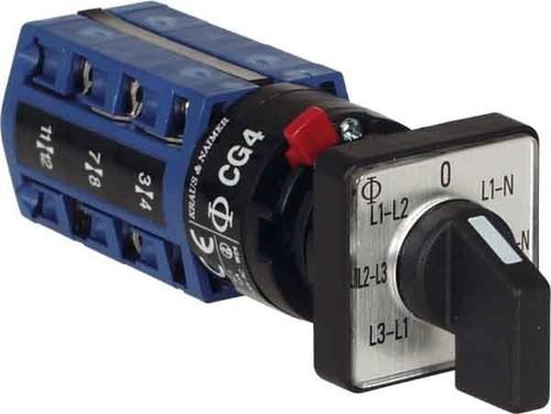 Kraus&Naimer Voltmeterumschalter mit 0-Stellung CG4 A007-624 FS2