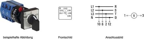 Kraus&Naimer Voltmeterumschalter ohne 0-Stellung CG4 A025-620 FS2