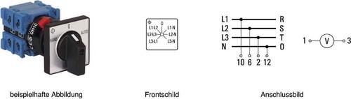 Kraus&Naimer Voltmeterumschalter mit 0-Stellung CH10 A007-624 FT2