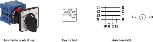 Kraus&Naimer Voltmeterumschalter ohne 0-Stellung CH10 A025-620 FT2