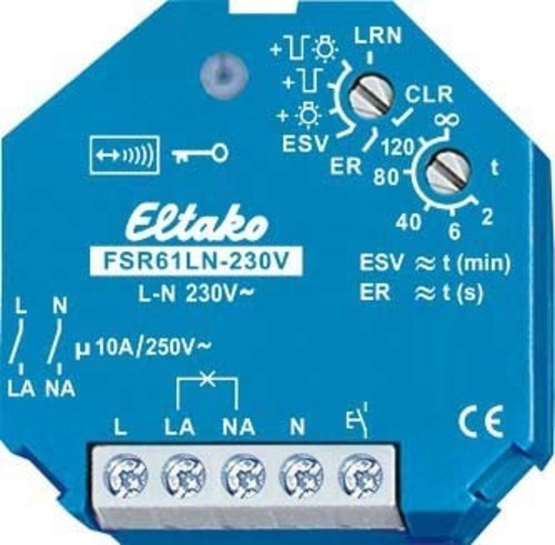 Eltako Funkaktor Stromstoßschalt. 230V FSR61LN-230V