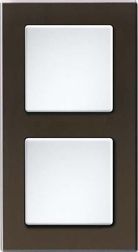 Eltako Q-Rahmen 2-fach Glas sw, Korpus schwarz QR2Gs-sz