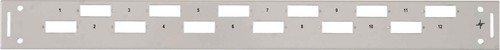 "Telegärtner 19"" Frontplatte 1HE für 12xLCD/Basis V TN-FP12LCD-BV-1HE"