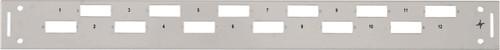 "Telegärtner 19"" Frontplatte 1HE für 12xLCD/Basiseco TN-FP12LCD-Be-1HE"