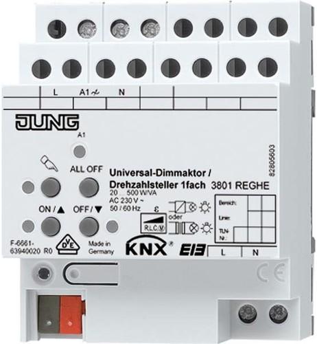 Jung KNX Universal-Dimmaktor /Drehzahlst. 1-fach ch 3901 REGHE