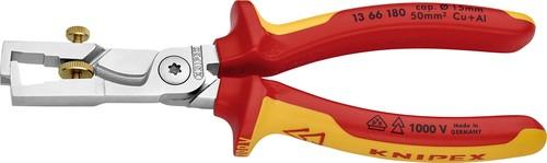 Knipex-Werk VDE Kabelschere 180mm, m.Abisolierf. 13 66 180