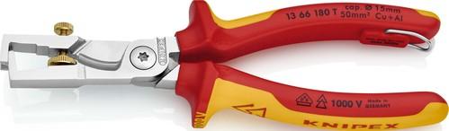 Knipex-Werk VDE Kabelschere 180mm, m.Abisolierf. 13 66 180 T
