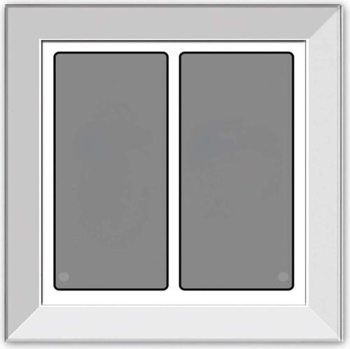 Issendorff Glas-Tastenfeld rahmenlos weiß m. 2 Tasten LCN - GTS2W