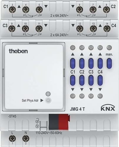 Theben Jalousieaktor MIX2,Grundmodul JMG 4 T KNX