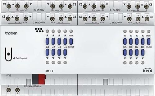 Theben Jalousieaktor FIX2 Modul, KNX JM 8 T KNX