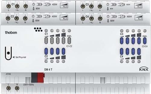 Theben Dimmaktor FIX2 Modul, KNX DM 4 T KNX