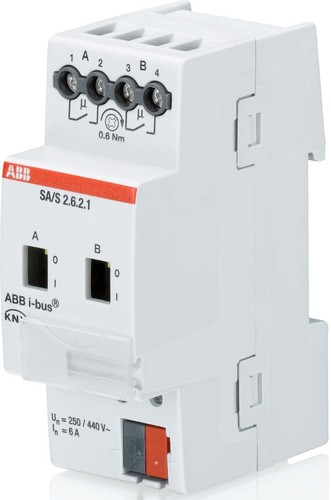 ABB Stotz S&J Schaltaktor 2-fach, 6A SA/S2.6.2.1