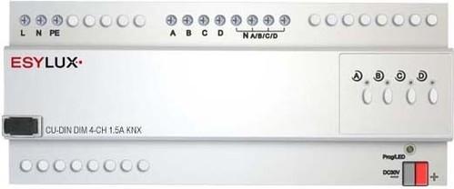 ESYLUX KNX-Dimmaktor 4-fach 1,5A proKanal CU-DINDIM4-CH1.5AKNX