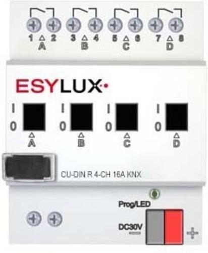 ESYLUX KNX-Schaltaktor 4-fach 16A pro Kanal CU-DIN R 4-CH16A KNX