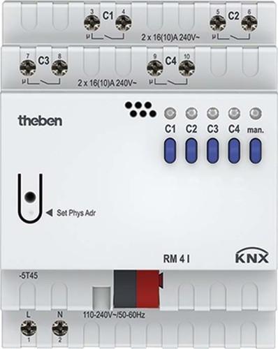 Theben KNX Schaltaktor 4-fach C-Last o.Erw. RM 4 I KNX