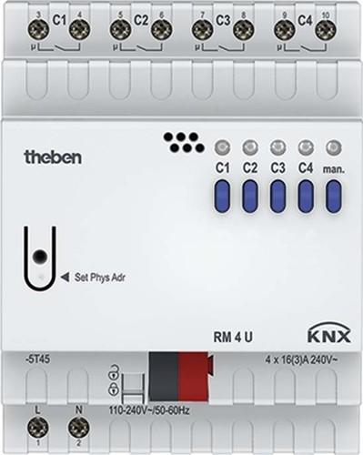 Theben KNX Schaltaktor 4-fach, o.Erweiter. RM 4 U KNX